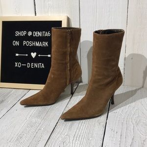 Steve Madden Brown Leather Heel Boots Size 6M